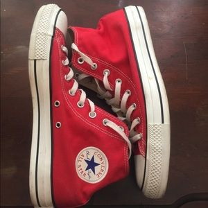 CONVERSE Chuck Taylor Red High Top Sneakers 11.5